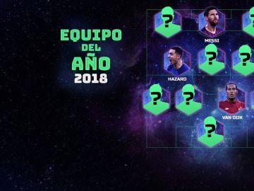 Parte del equipo del año de la UEFA 2018