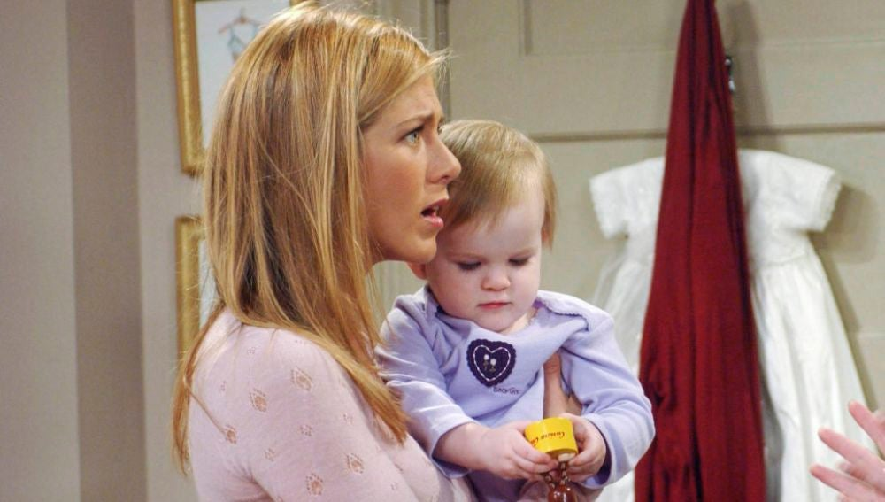 Rachel y Emma en 'Friends'