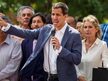 El presidente de la Asamblea Nacional de Venezuela, el opositor Juan Guaidó