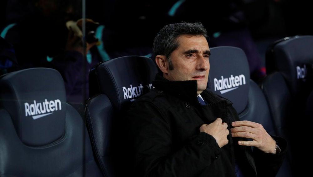 Ernesto Valverde, durante el partido contra el Eibar