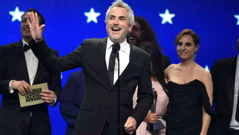 Alfonso Cuarón en los Critics' Choice Awards