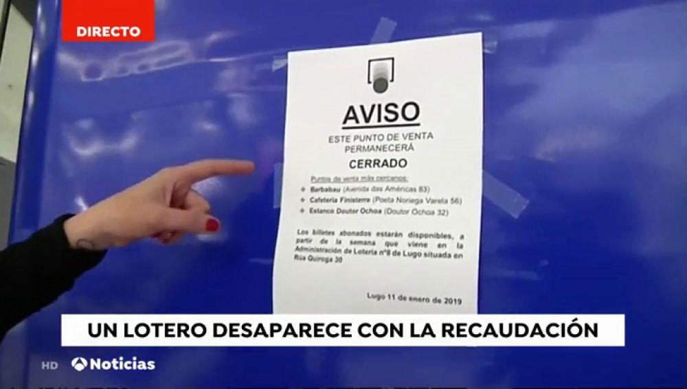 Un lotero de Lugo desaparece con más de 90 mil euros