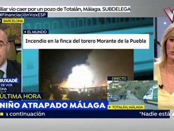 Se investiga el incendio en la finca sevillana de Morante de la Puebla