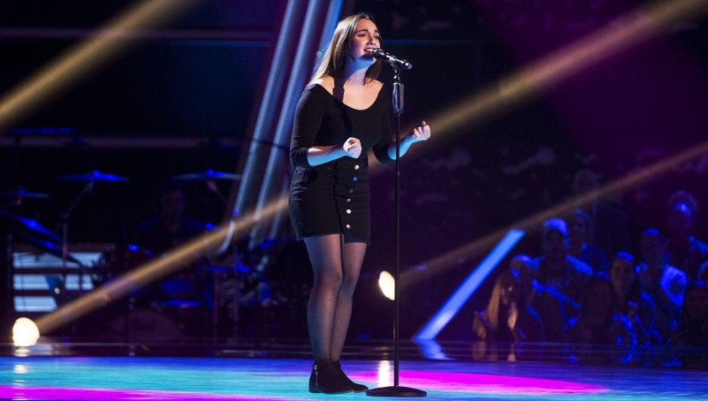 Marina Damer canta 'Lo saben mis zapatos' en las 'Audiciones a ciegas' de 'La Voz'