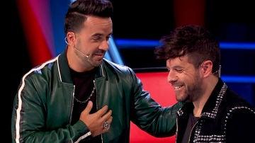 Luis Fonsi y Pablo López en 'La Voz'