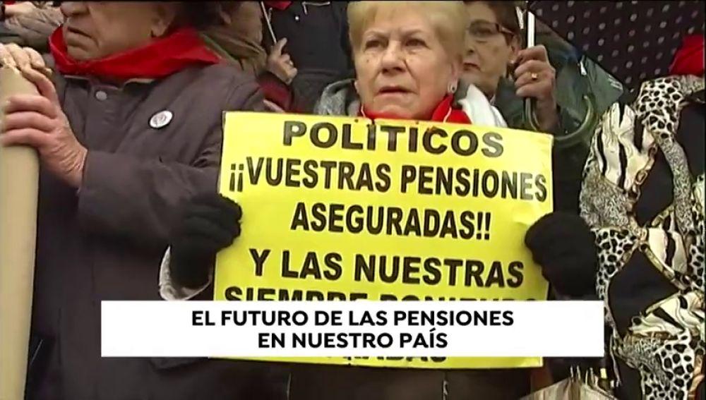 Los pensionistas de Bilbao cumplen un año manifestándose para pedir mejores en sus prestaciones