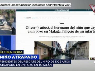 Un hermano del niño de 2 años que cayó a un pozo en Totalán murió de un infarto