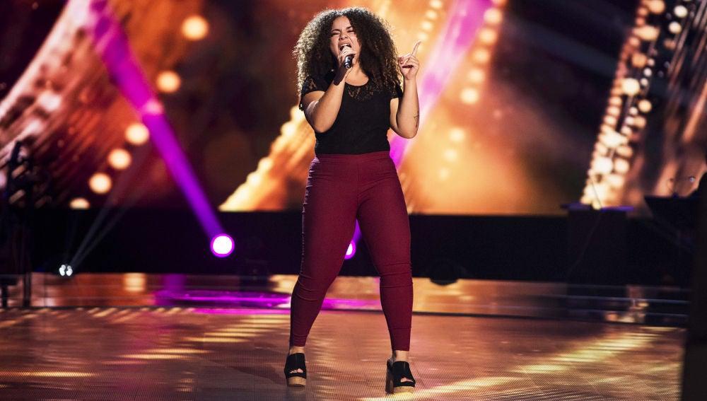 Carolina Gómez canta 'What about us' en las 'Audiciones a ciegas' de 'La Voz'