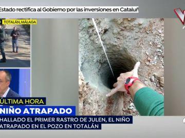 """El forense José Antonio Lorente, sobre el niño atrapado en el pozo: """"Me sorprende muchísimo que haya podido caer en un agujero tan profundo"""""""