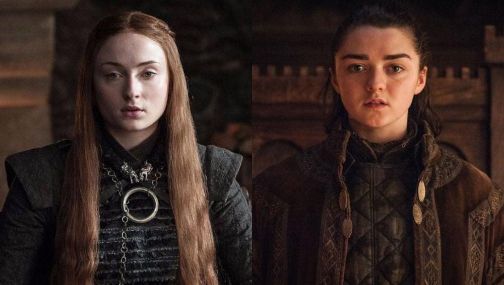 Sansa y Arya Stark en 'Juego de Tronos'