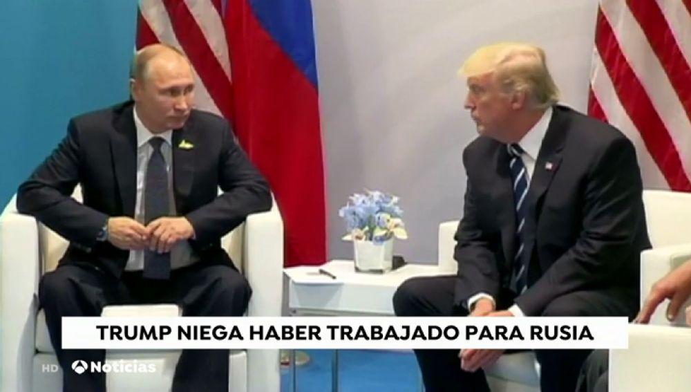 Trump niega haber trabajado para Rusia como sugieren algunas informaciones publicadas los últimos días