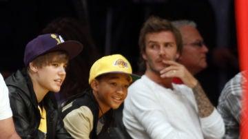 David Beckham y Justin Bieber