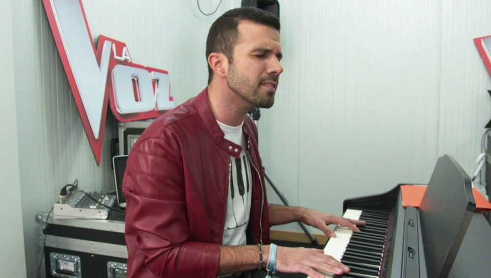 Sergio Jiménez minutos antes de las 'Audiciones a ciegas' de 'La Voz'