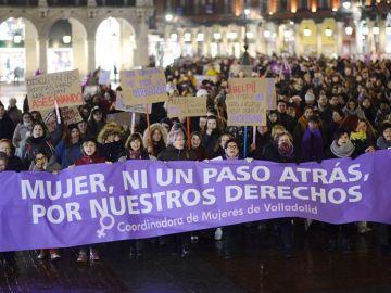 Manifestación en Valladolid