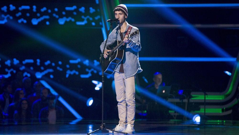 Pablo Salvatierra canta 'Shape of you' en las 'Audiciones a ciegas'