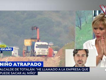 """El alcalde de Totalán denuncia la desorganización en el rescate de Julen: """"Una empresa de desatoros no tiene que hacer el diagnóstico"""""""