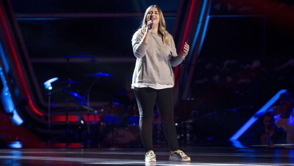 María Espinosa canta 'Ya lo sabes' en las 'Audiciones a ciegas'