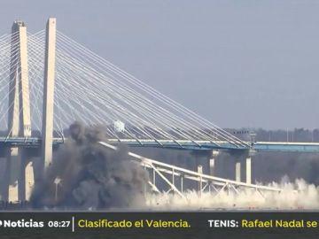 La demolición de un puente sobre el río Hudson deja estas impresionantes imágenes