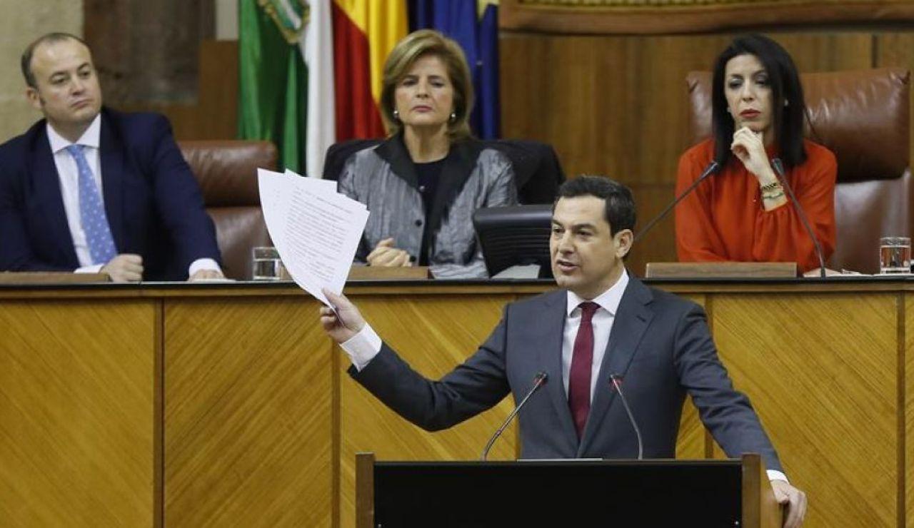 Noticias 2 Antena 3 (16-01-19) Juanma Moreno, elegido presidente de la Junta de Andalucía con los votos del PP, Cs y Vox