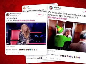 Paulina Rubio y Pablo López, protagonistas de los memes más exitosos de 'La Voz'