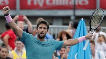 Fernando Verdasco celebra su victoria ante el moldavo Radu albot