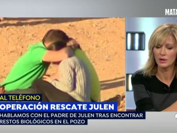 """El padre de Julen habla en 'Espejo Público' después de que se encuentre pelo del niño: """"Esto está lejano pero se ve algo de luz"""""""