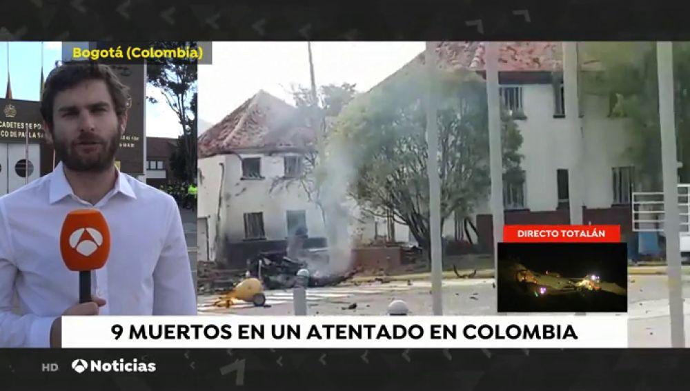 Al menos cinco muertos por un coche bomba detonado en un párking de la Escuela de Policía de Bogotá
