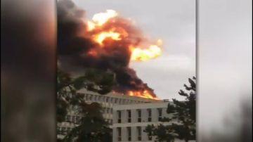 La Universidad de Lyon registra una violenta explosión en un edificio del campus