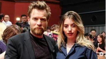 Ewan McGregor junto a su hija Clara