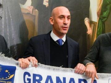 Luis Rubiales, en un acto en Granada