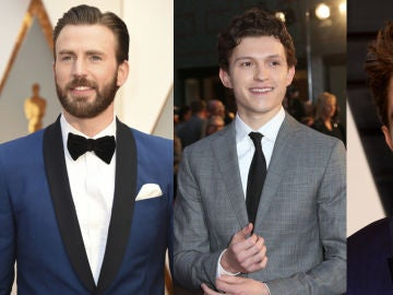 Chris Evans, Tom Holland y Robert Pattinson