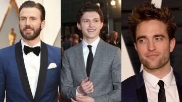 Chris Evans, Tom Holland y Robert Pattinson
