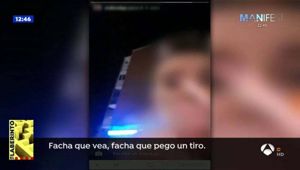 "El vídeo viral de la joven que amenaza a Vox: ""Facha que vea, facha que pego un tiro"""