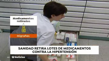 Sanidad retira varios lotes de medicamentos para la hipertensión que tienen el principio activo de irbesartán