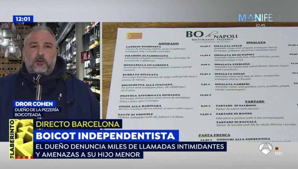 """Independentistas catalanes boicotean a una pizzería por no tener carta en catalán: """"Me dijo que era un nazi en contra del catalán"""""""