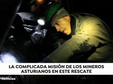 ¿Cómo trabaja una brigada de mineros en un rescate bajo tierra ?