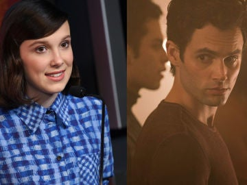 Millie Bobby Brown y Penn Badgley