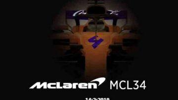 La imagen filtrada por error por McLaren del MCL34