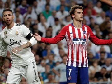 Sergio Ramos y Antoine Griezmann
