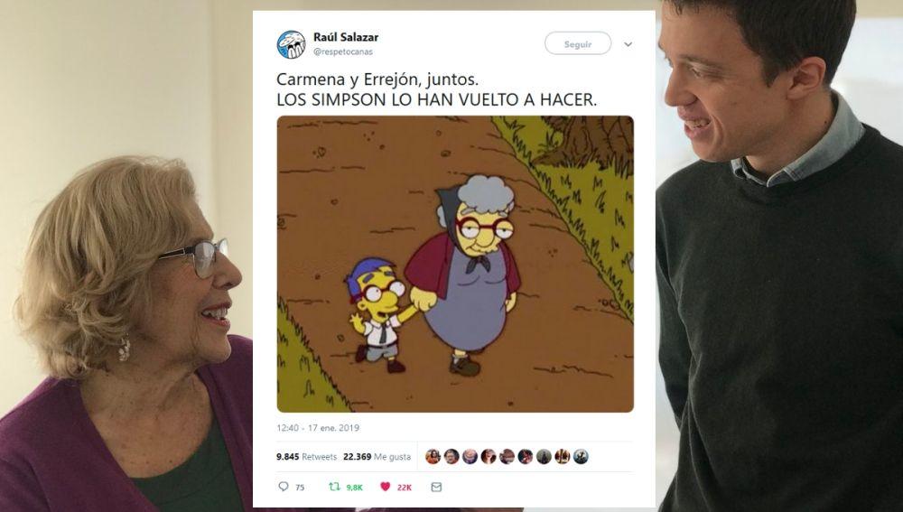 Memes de Errejón y Carmena