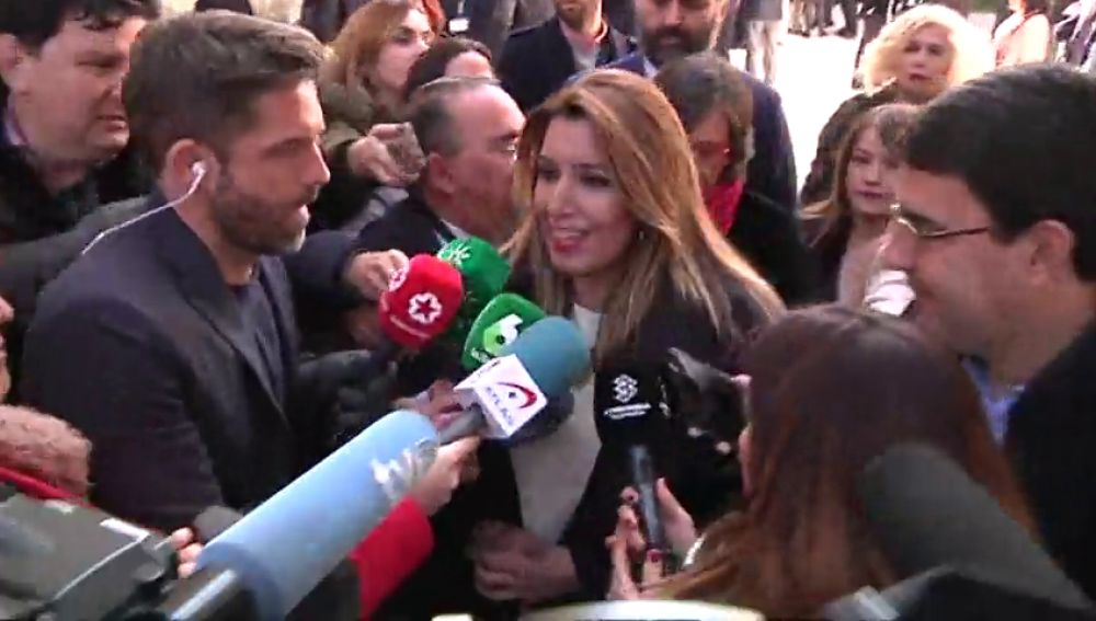 Susana Díaz responde al PSOE que su respaldo viene de los militantes