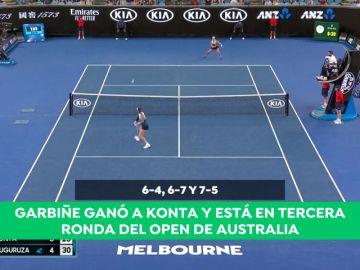 Garbiñe Muguruza sufre para ganar a Konta y ya está en tercera ronda del Open de Australia
