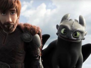 Hipo y Desdentao en 'Cómo entrenar a tu dragón 3'