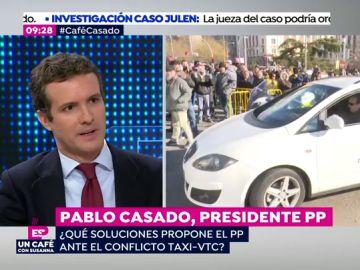 """Pablo Casado: """"Propongo una liberalización del sector del taxi"""""""