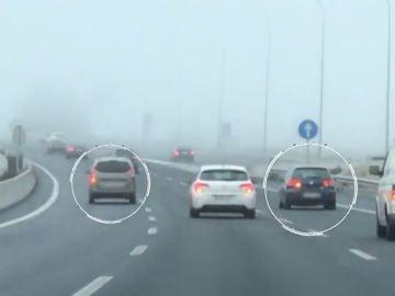 Tratan de identificar a los conductores de dos vehículos que conducían de forma temeraria en la M-40