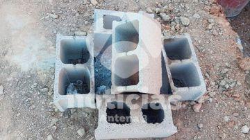 Imágenes de los bloques de hormigón en el pozo donde cayó Julen