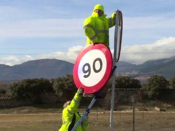 A 90 kilómetros por hora en las carreteras convencionales a partir de este martes