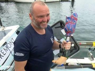 Lee Spencer, el exmarine sin una pierna en busca de una hazaña en el Atlántico