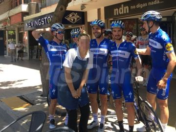 La foto de la polémica con el ciclista Iljo Keisse