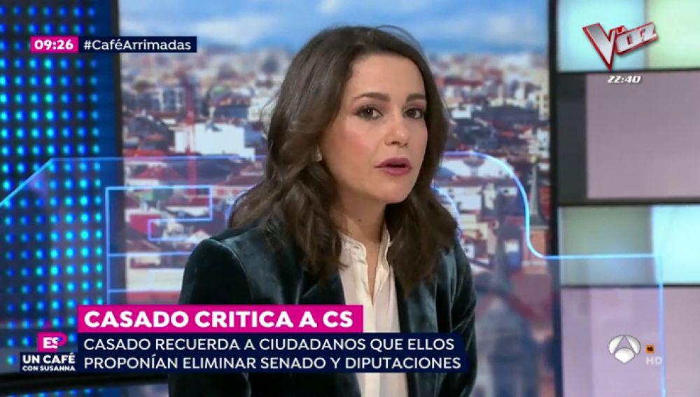 """Inés Arrimadas: """"Pedro Sánchez es un obstáculo para el PSOE en sí mismo"""""""